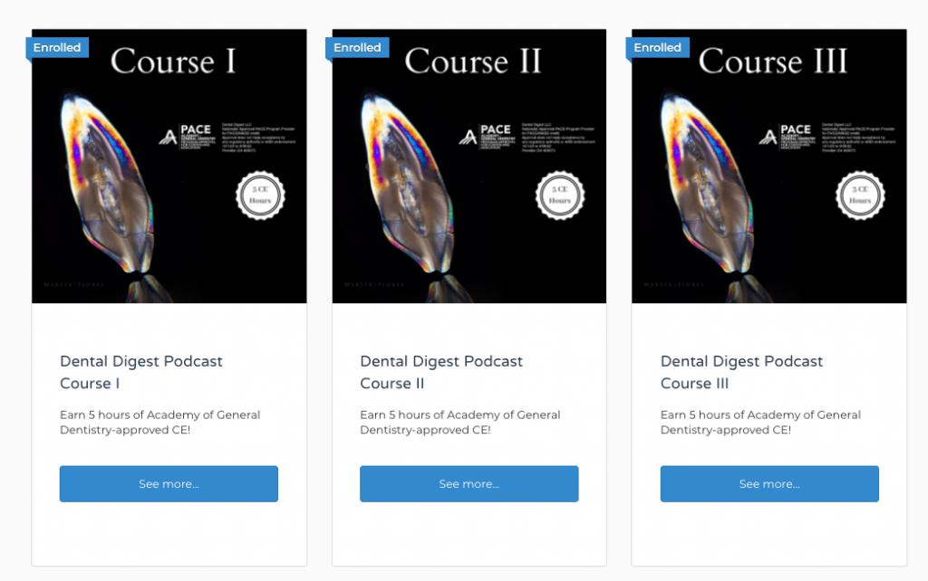 Dental Digest Courses